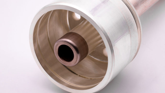 A Copper/Tungsten detail of a silvered moving contact
