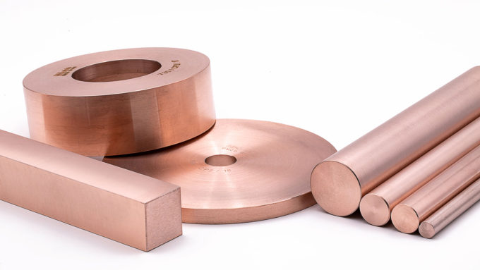 Copper/Tungsten sintered rings, cups, round and square bars