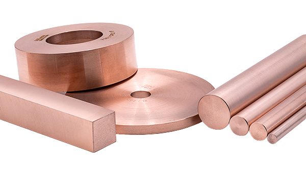 Tungsten/Copper sintered parts (rings, cups, round and square bars)